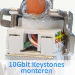 10Gbit keystones monteren