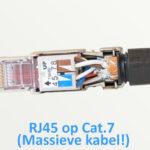RJ45 aansluiten op een massieve Cat.7 kabel