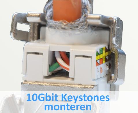 Keystones aansluiten op een Cat.7 kabel